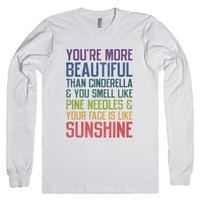 You're More Beautiful (Bridesmaids Quote Long Sleeve) |