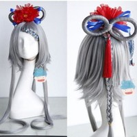 New Girl Women Gray Color Lolita Wig Tails Style Cosplay Cos Play Wig on Luulla