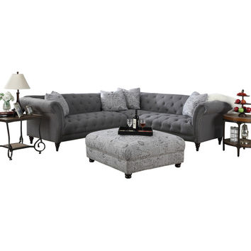 Sally 102'' Tufted Sectional Sofa