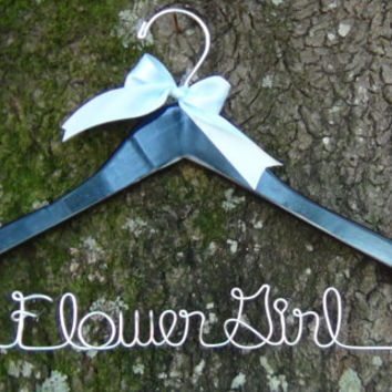 Bridal Hanger Custom Made, Personalized Keepsake Hanger, Flower Girl Gift idea,Wedding Hangers with Names, Wedding Photo Props