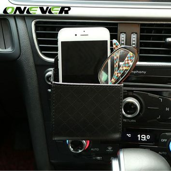 Air Vent Hanging Car Organizer for Phone, Glasses, Cash & Card Storage