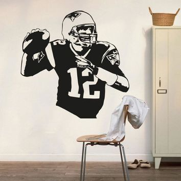 New England Patriots Tom Brady Wall Decal