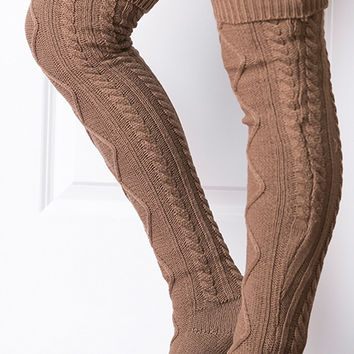 The San Fran Boot Socks - Mocha