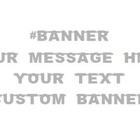 Custom Social Media Banner for your Wedding, Special Event, or Brand, #Hashtag