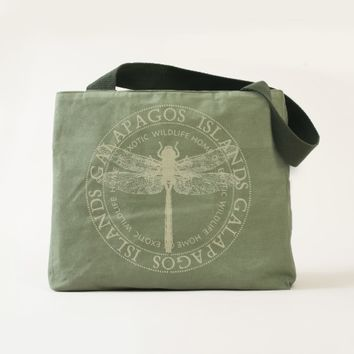 Beautiful Galapagos Islands Dragonfly Tote