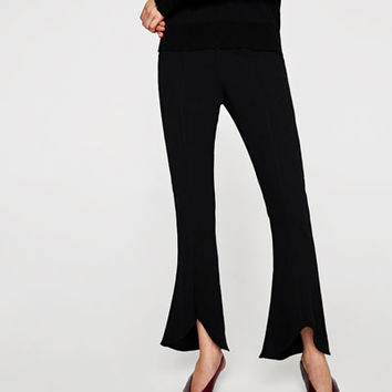 ASYMMETRIC FLARE TROUSERS Look+: 1 of 3