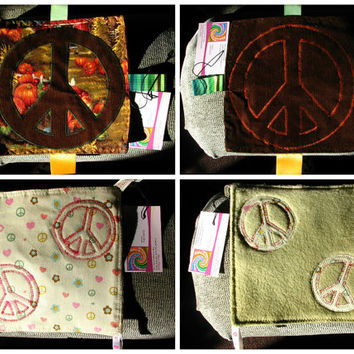 Crinkle Taggie Sensory Toy ~ Peace Sign ~ Sensory Toy ~ Baby Blanket ~ Gender Neutral ~ Boy ~ Girl ~ OoaK ~ Pumpkin ~ Heart ~ Flower ~ Lovey