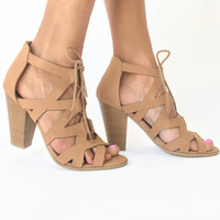 Spring Breeze Heels in Tan