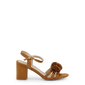 d9ce7373613 Xti Designer Womens Camel Brown Chunky Heel Ankle Strap Applique