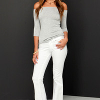 Dittos Christine White Flare Jeans