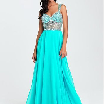 [109.99] Alluring Chiffon Sweetheart Neckline A-Line Prom Dresses With Beadings - dressilyme.com