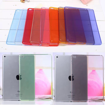 Full clear Transparent TPU Back Case Cover Silicone For Apple iPad Air 2 9.7'' Protective Skin for ipad 6 cases Tablet M2C42D