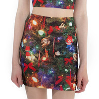 Christmas Tree Mini Skirt