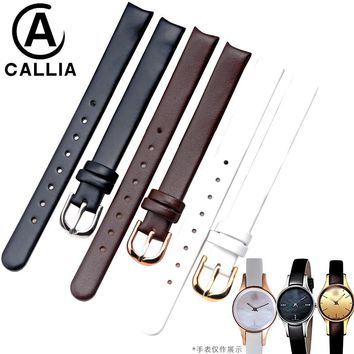 Watch Strap for K43236 K43231 K4323209 10mm Ladies Genuine Calf Hide Leather  Watch Band Small Size watch bracelets +FREE TOOLS