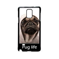 New Design Funny Hilarious Pug Life Parody fans For Samsung Galaxy Note 2/Note 3/Note 4/Note 5/Note Edge Phone case ZG