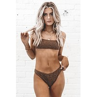 THRILLS Panthera Bikini Bottom - Mustang Brown