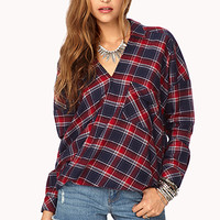 Twisted Grunge Plaid Shirt