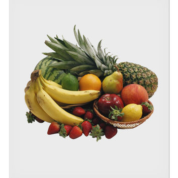 "Fruit Basket Still Life 9 x 10.5"" Rectangular Static Wall Cling"
