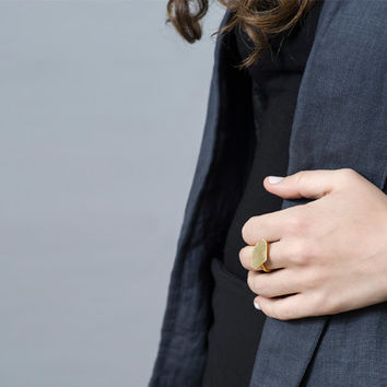 Gold Nugget Ring // large // Custom Size