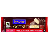 SunSpire Foods Coconut Bar - Premium Dark Chocolate - 1.75 oz Bars - Case of 24