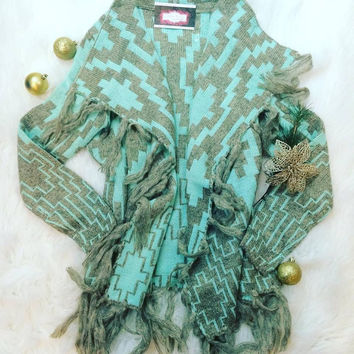 HOLIDAY TRADITION CARDI IN MINT