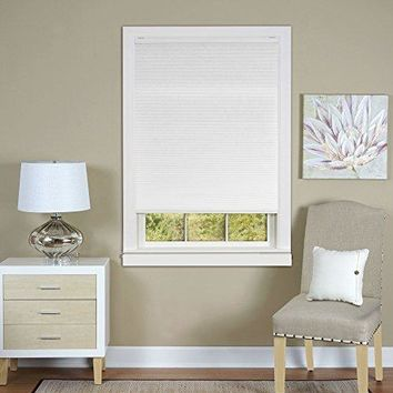 Ben&Jonah Collection Cordless Honeycomb Cellular Pleated Shade 23x64 - White