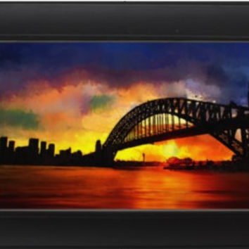 Sydney Harbour Australia Sunset Harbor Bridge signed art print 6x4 8x10 cityscape