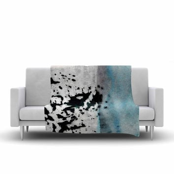 "Iris Lehnhardt ""Abstract Color"" Pastel Painting Fleece Throw Blanket"