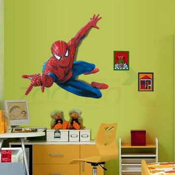 very boy have a dream be spiderman wall stickers for kids room pvc wall decal for Children Boys Kids room Superman Super Hero SM6
