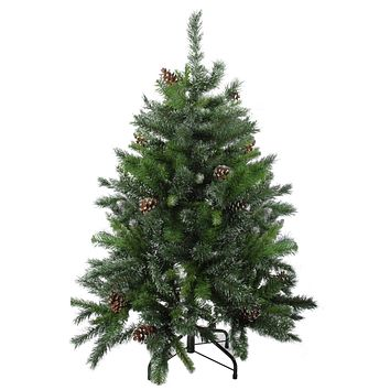 "16"" Pre-Lit Deluxe Windsor Pine Artificial Christmas Wreath Clear Lights"