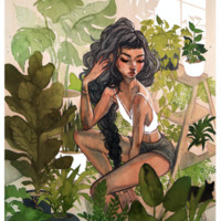 "Greenhouse 8.5x11"" Print from Jacquelin de Leon Illustration"