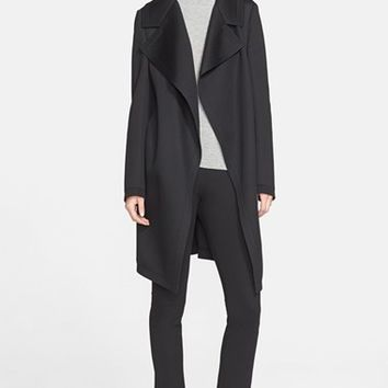 Women's Donna Karan New York Bonded Jersey Coat,