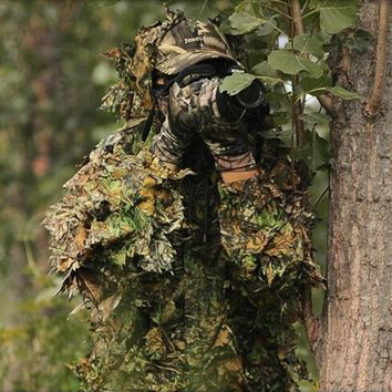 NEW ARRIVAL CS 3D Tactical Yowie sniper Camouflage Clothing Bionic ghillie suit Camouflage Hunting clothes