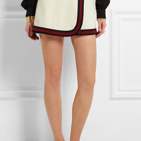 Gucci - Stripe-trimmed jersey mini skirt