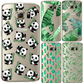 Cute Panda Silicone Case Cover For iPhone 4S SE 5 5s 6 6S 7 Plus For Samsung Galaxy S3 S4 S5 S6 S7 Edge J3 J5 A3 A5 2016