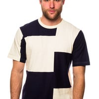 Y-3 M Fabric Mix Cream White/Navy T-Shirt