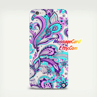 Paisley Clear Phone Case Cover , Crystal Clear iPhone 6 6s Case , Custom Clear iPhone 6 6s Case , Cool iPhone Case , Transparent Case