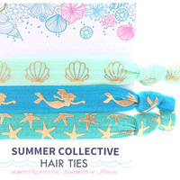Summer Collective -  Mermaid Hair Ties | Blue