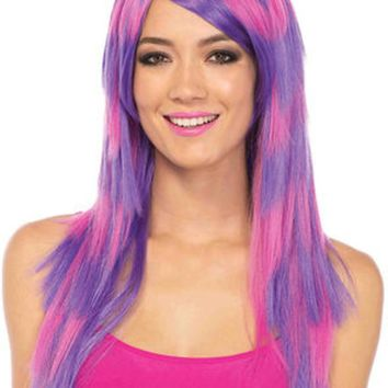 Cheshire layered two tone wig in PINK/PURPLE