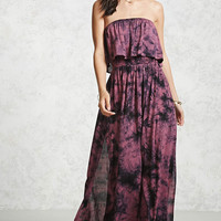 Tie-Dye Flounce Maxi Dress