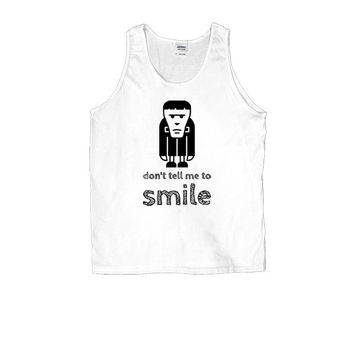 Don't Tell Me To Smile (Frankenstein) -- Unisex Tanktop