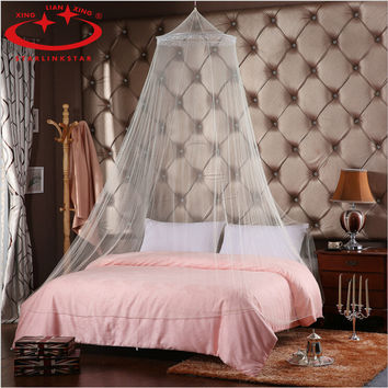 Dome Elegent Lace Summer House Polyester Fabric Bed Netting Canopy Circular Mosquito Net White Mosquitera Malla De Mosquito