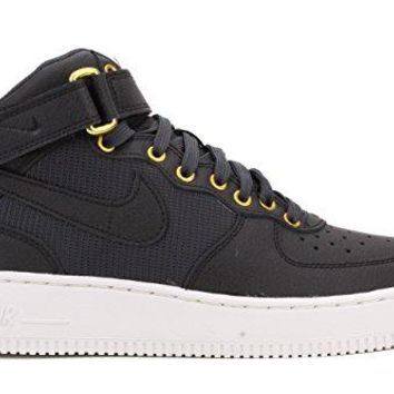 Nike Youth Air Force 1 Mid LV8 Sneaker Shoes-Black/Anthracite-SummitWhite  air force ones nike
