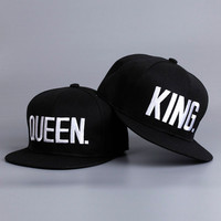 KING QUEEN Hip Hop Baseball Caps Embroider Letter Couples Lovers Adjtable Snapback Sun Women KH981562