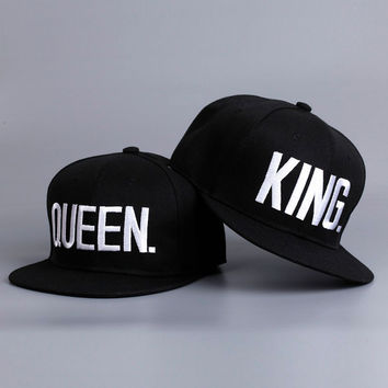 Snapback Hats Caps King and Queen