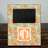 Personalized Print Picture Frame with Sorority Monogram