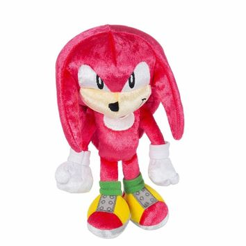 """New 25th Anniversary Knuckles Plush the Hedgehog Boom 8"""" Action Figure Toy"""