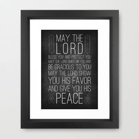 Numbers 6:24-26 The Blessing Framed Art Print by Pocket Fuel | Society6