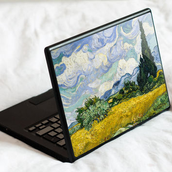 Wheat Field with Cypress Laptop Skin