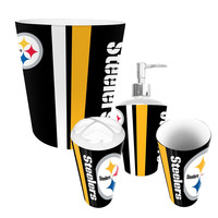 Pittsburgh Steelers NFL Complete Bathroom Accessories 4pc Set